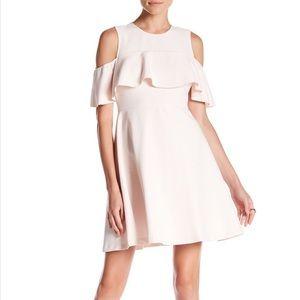 {Nanette Lepore} Light Pink Cold Shoulder Dress